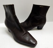 Geox Brown Leather Ankle Boots 37 US sz 6.5 M Italy