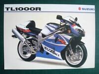 SUZUKI TL1000R Motorcycle Sales Specification Leaflet Nov 1999 #MB00TL1000R-LEAF