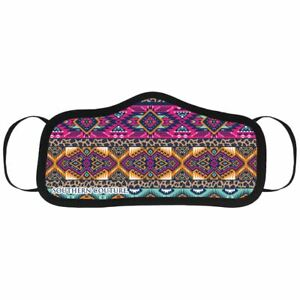 Leopard Aztec Pink One Size Fits Most   Polyester Fabric Face Covering Mask