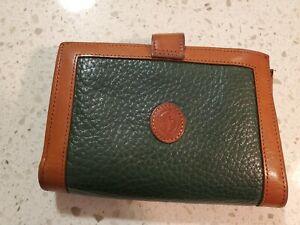 Dooney Bourke vintage hunter green wallet