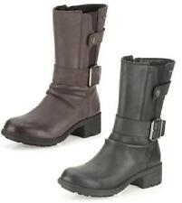Clarks Women's 100% Leather Block Mid-Calf Boots