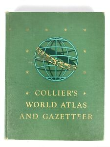 Collier's World Atlas and Gazetteer Town Cities of All Countries New York 1943
