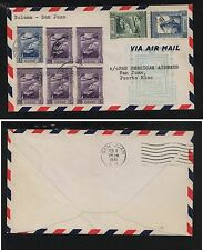 Portugal  Guine   flight cover to Puerto Rico  1941        H1207-04