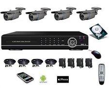 Kit vidéo surveillance 700 TVL DVR IP 4voies 1To 4 caméras étanches zoom IR 40m