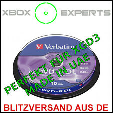 [xgd3] 10-pack verbatim DVD + R DL mkm-003 → Xbox 360 IHAS 124b dual/Double Layer