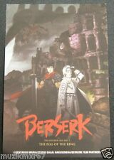 "SDCC Comic Con 2012 Berserk ""The Golden Age of Arc 1"" Promo loby card -"