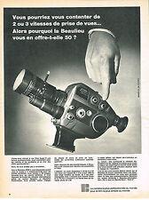 PUBLICITE   1967   BEAULIEU  2008S  caméra