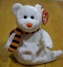 TY Beanie Baby QUIVERS GHOST TEDDY BEAR Stuffed Animal TOY 2003 NEW