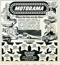 1976 Motorama Frank Sinatra Zebra Elton John Super Star Kart Pink Panter Ad