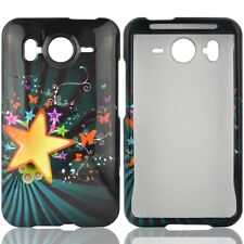 Star Blast Hard Case Snap on Cover for HTC Inspire 4G