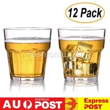 12 pack 300ml Tumblers Cups Drinking Cold Water/Drink/Beer Mug Tumbler Clear AU