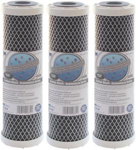 "3 x Aquafilter FCCBL 10"" Water Filter Cartridge Carbon Block Reverse Osmosis"