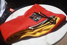 Vintage Designer SKI Pants, West Germany, SKIHOSE waist 34, Red,Yellow, Black