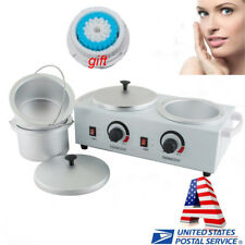 Double Pot Paraffin Wax Heater Warmer Hair Removal Hot Waxing Salon Home Use