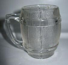 New listing Vintage Toothpick Holder Barrel Shape Handle Hazel Atlas Shot Glass Clear