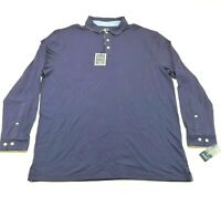 Club Room Men's Navy Blue Long Sleeve Polo Shirt Size XXL 25 X 31 NWT