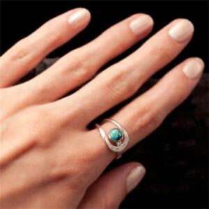 Vintage Circular Ring Originality New Fashionable Luxurious Elegant Gem Ring FI