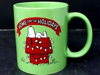 Peanuts Snoopy Home For The Holidays 2015 Coffee Mug Cup Lime Green Christmas