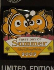 Disney Wdw First Day Of Summer 2005 Nemo & Marlin Finding Nemo Le 2000 Pin