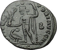 Constantine I The Great 313AD Ancient Roman Coin Nude Jupiter w Nike  i32449