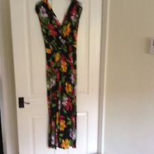 ladies multi coloured maxi dress in very good condition