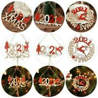 2020 Letters Marry Christmas Hanging Ornaments Family Ornaments Xmas Decor