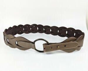 M & S Autograph Bronze Leather Belt Medium Pristine W32 -36 Inches