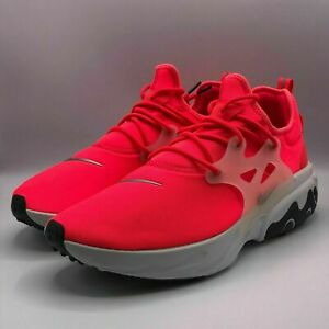 Nike Mens Size 9.5 React Presto Crimson Red Running Sneakers Shoes CK4538-600