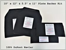 10 X 12 and 5.5 X 11 Plate Backer Kit Level 3-A 100% DuPont Kevlar