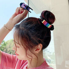 Sequins Hair Claw Clips Large Grip Thick Hair Folding Clip for Women Ladies 8cm