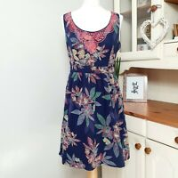 FAT FACE (UK Size 12) Cotton Embroidered Floral Summer Dres - Knee Length