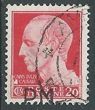 1942 REGNO POSTA MILITARE USATO 20 CENT VARIETA SOPRASTAMPA IN BASSO - R44-10