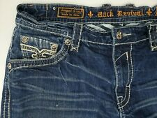 Rock Revival Ilion Straight Mens Jeans Size 40x34 Flap Pocket Excellent