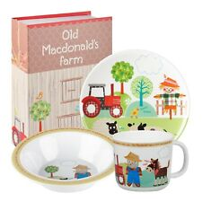 Little Rhymes Old Macdonald 3 Piece Melamine Dinner Set