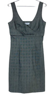 Portmans Womens Grey Check Sleeveless Pencil Corporate Business Dress Size 10