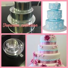 Set of Professional 3 Tier Tondo Torta Baking SCATOLETTE Heavy Duty 3 WEDDING pani e pezzi staccati
