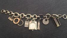 Dkny Gold Charm Bracelet Watch Includes Box