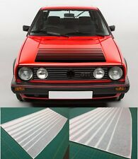 VW MK2 Golf / Jetta Bonnet fade stripes decal Sticker 16V Syncro any colour Gti