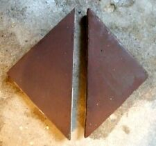 "Antique Victorian Hall Floor Tile Taupe Dark Stone TRIANGLE 6/""x4/""x4/"" 1 of 35"