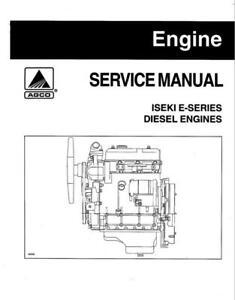 Iseki E Engine series Workshop Manual