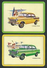 #950.1327 vintage EXTRA WIDE swap card -MINT pair- Holden cars FC & FE
