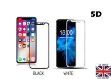 Full Cover 5D Tempered Glass Screen Protector For Apple iPhone XS - Black/ White