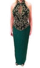 Sexy, Formal Peak Evenings Long Lined Beaded Sequin Dress Sz 8
