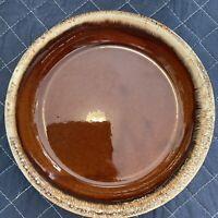 "Hull  Brown Drip Glaze 9½"" Pie Plate Round Dish Pan Vintage Hull Pottery U.S.A."