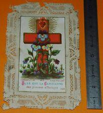 CHROMO 1880-1890 IMAGE PIEUSE CATHOLICISME CANIVET JESUS PIEUSES AFFECTIONS