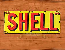 "TIN-UPS TIN SIGN ""Classic Shell Logo""  Motor Gas Car Petrol Vintage Wall Decor"