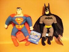 2 Super heros justice league : superman + batman / produits neufs - 25 cm