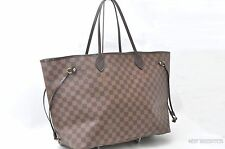 Authentic Louis Vuitton Damier Neverfull GM Tote Bag N51106 LV T550