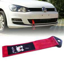 Universal JDM Style MUGEN Racer Red Tow Strap For Front Rear Bumper Towing Hook