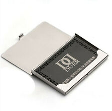 New Mens Business Name ID Credit Card Case Metal Fine Box Holder Pocket Silver Y